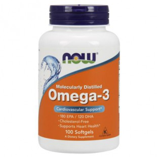 Now Нау Omega-3 Омега-3 капсулы  №100