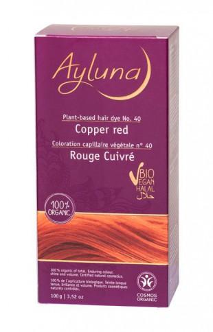 АИЛУНА Краска для волос №40 «МЕДНЫЙ КРАСНЫЙ» растительная, краска  100 г