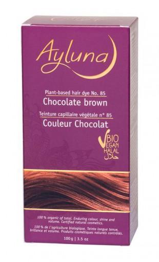 АИЛУНА Краска для волос №85 «ШОКОЛАДНЫЙ КОРИЧНЕВЫЙ» растительная, краска  100 г