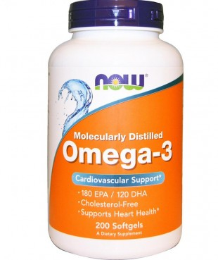 NOW Нау Омега-3 1400мг (OMEGA-3) капсулы  №200