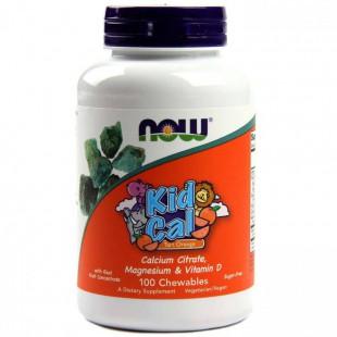NOW Нау Детский Кальций (KID-CAL CHEWABLE CALCIUM) таблетки  №100
