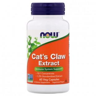 NOW Нау Кошачий коготь  (CAT'S CLAW EXTRACT ) капсулы  №60