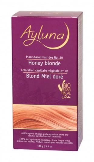 АИЛУНА Краска для волос №20 «МЕДОВЫЙ БЛОНДИН» растительная, краска  100 г
