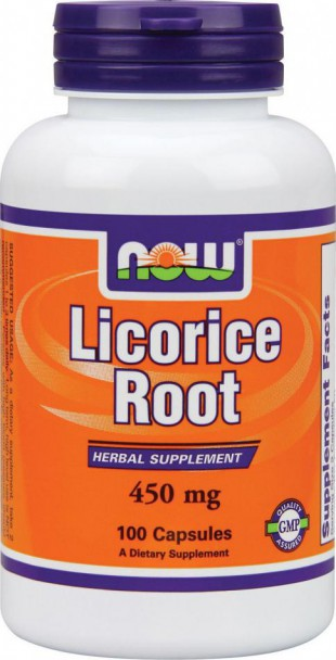 NOW Нау Солодка 450мг  (LICORICE ROOT) капсулы  №100