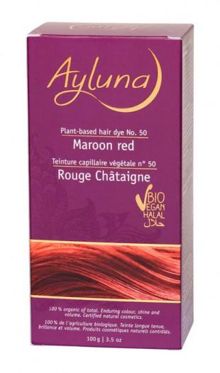 АИЛУНА Краска для волос №50 «КАШТАНОВЫЙ КРАСНЫЙ» растительная, краска  100 г