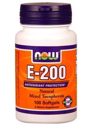 NOW  Нау Натуральный Витамин Е-200 (E-200 ) капсулы  №100