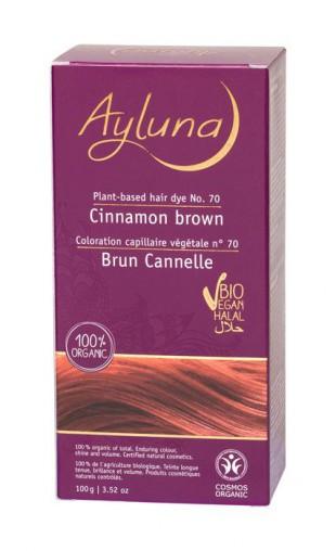 АИЛУНА Краска для волос №70 «КОРИЧНЫЙ КОРИЧНЕВЫЙ» растительная, краска  100 г