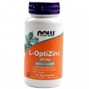 NOW Нау L-Оптицинк (L-OPTIZINC(R) 30mg + COPPER ) капсулы  №100