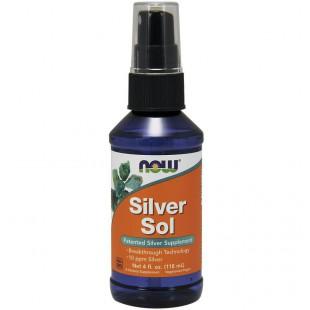 NOW Нау Коллойдное серебро (SILVER SOL 10 PPM LIQUID  4 FL. OZ.) спрей  118 мл